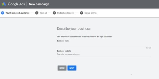 Google Ads-Business information- Esther Goh Tok Mui