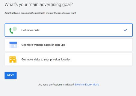 Google Ads - Goals selection -Esther Goh Tok Mui